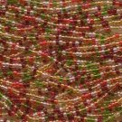 Size 8 Seed Beads Czech Tropical Orange Red Pink Green Yellow