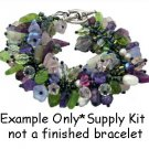 Lilac Flower Garden Fringe Bracelet Kit Beads Leaves