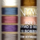 NYMO SET #1 - 10 Colors Nymo Size D Beading Thread Sampler