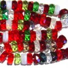 Christmas Crystal Red Green White Rondelle 6mm Fire Polish