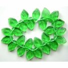 Green Leaf Glass Beads 7/12mm