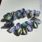 Lt Lilac Matte Ab Leaf Beads Beautiful for Spring