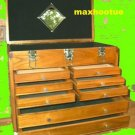 8 Drawer Machinist Wooden Tool Chest Wood Cabinet Box