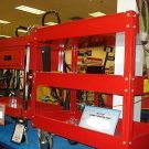 16 x 30 STEEL SERVICE UTILITY PUSH SHOP CART & 3 TRAYS