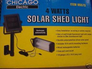 SOLAR POWERED OUTDOOR SHED  BARN GARAGE LIGHT CARPORT