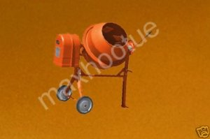 Brand New LARGE CEMENT CONCRETE STUCCO MIXER 1/2 HP
