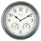 """NEW 14"""" Outdoor Patio Wall Clock Thermometer Hygrometer"""