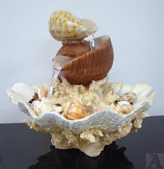 SeaShell Table Top Fountain