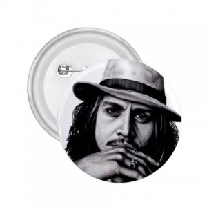 Johnny Depp 2.25 inch pinback button backpack pin 26994618