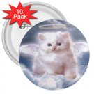 Angel Kitten 10 pack of 3 inch pinback buttons backpack pins 26994644