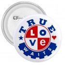 Purity chastity True Love Can Wait 3 inch pinback button backpack pin 26994649