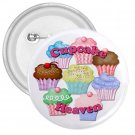 CUPCAKE HEAVEN 3 inch pinback button backpack pin 26994687