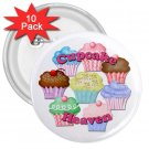 CUPCAKE HEAVEN 10 pack of 3 inch pinback buttons backpack pins 26994691