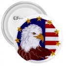 AMERICAN Flag Bald Eagle 3 inch pinback button backpack pin 27008584
