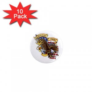 pinback BORN IN THE USA 10 pack of 1 inch buttons backpack pins 27008602