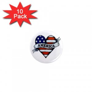 pinback COUNTRY AMERICAN 10 pack of 1 inch buttons backpack pins 27008594