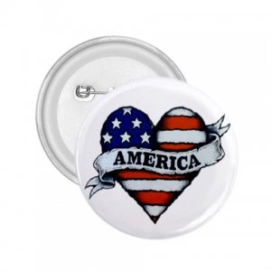 COUNTRY AMERICAN 2.25 inch Bald Eagle pinback button backpack pin 27008591