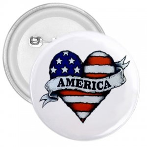 COUNTRY AMERICAN 3 inch pinback button backpack pin 27008593