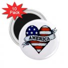 COUNTRY AMERICAN 10 pack of 2.25 inch Magnets Locker Party favors 27008596