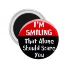 FUNNY I'm Smiling 2.25 inch Magnet Locker Refrigerator 26999196