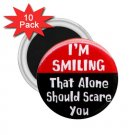 FUNNY I'm Smiling 10 pack of 2.25 inch Magnets Locker Party favors 26999200
