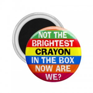 Magnets Hilarious NOT THE BRIGHTEST CRAYON  2.25 inch Locker Refrigerator 26999261