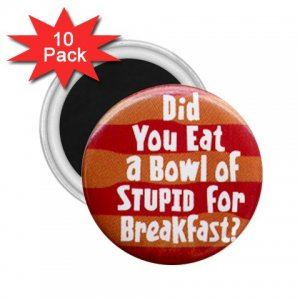 10 pack of 2.25 inch Magnets Hilarious BOWL OF STUPID Locker Party favors 26999285