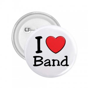 2.25 inch  I LOVE BAND pinback button backpack pin 27018069