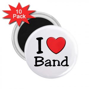 10 pack of 2.25 inch Magnets I LOVE BAND Locker Party favors 27018074