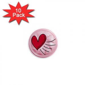 HEART LOCKER Magnets 10 pack of 1 inch button magnets decoration 27034401