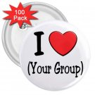 FUNDRAISER 100 pack of Large 3 inch pinback buttons backpack pins