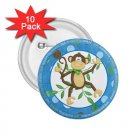 buttons CUTE MONKEY 10 pack of 2.25 inch pinback backpack pin 27087963