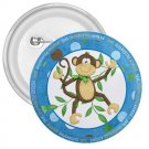 3 inch CUTE MONKEY pinback button backpack pin 27087960