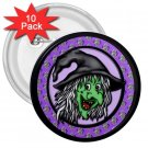 10 pack of 3 inch HALLOWEEN WITCH pinback buttons backpack pins 27087975