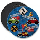 KIDS CARS SIGNS COLOSSAL button pinback 6 inch backpack pin