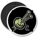 KNITTING COLOSSAL button pinback 6 inch backpack pin