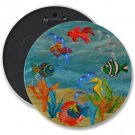 TROPICAL FISH COLOSSAL button pinback 6 inch backpack pin