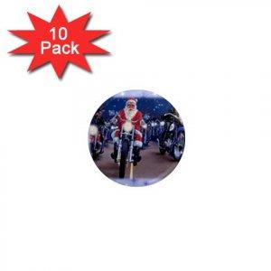 SANTA ON A HARLEY HOG LOCKER Magnets 10 pack of 1 inch button magnets decoration 27183951