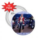buttons CHRISTMAS SANTA ON A HARLEY HOG 10 pack of 2.25 inch pinback backpack pin 27183952