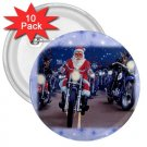 10 pack of 3 inch SANTA ON A HARLEY HOG pinback buttons backpack pins 27183954