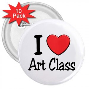 10 pack of 3 inch I LOVE ART CLASS pinback buttons backpack pins 27018067