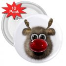 10 pack of 3 inch RUDOLPH HOLIDAY REINDEER pinback buttons backpack pins 27280523