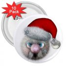 10 pack of 3 inch SANTA HOLIDAY CHRISTMAS pinback buttons backpack pins 27280533
