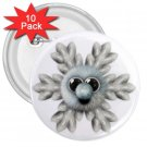 10 pack of 3 inch SILLY SNOWFLAKE HOLIDAY CHRISTMAS pinback buttons backpack pins 27280542