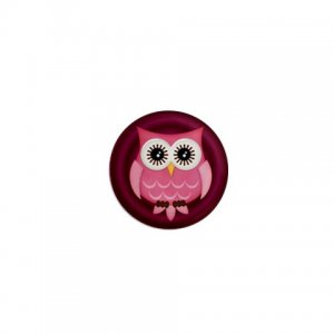 SINGLE Maroon Owl Magnet 1 inch button Locker magnets