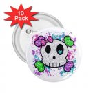 buttons Goth Skull Girl 10 pack of 2.25 inch pinback backpack pin 27280549