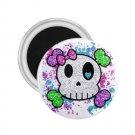 Goth Skull Girl 2.25 inch Magnet Locker Refrigerator 27280545