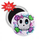 Goth Skull Girl 10 pack of 2.25 inch Magnets Locker Party favors 27280550
