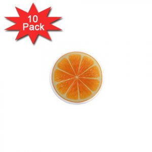 ORANGE SLICE Design Magnets 10 pack of 1 inch button magnets decoration 27280579