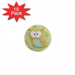 Retro Owl Design 10 pack of 1 inch pinback buttons backpack pins 27280588